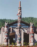 Totems at Seven Cedars Casino (6734 bytes)